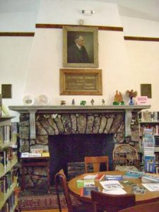 The Library is built from fieldstone and has a lovely fieldstone fireplace in its one room. It houses a collection of over 9,000 books, magazines, audios, CDs, videos and DVDs.